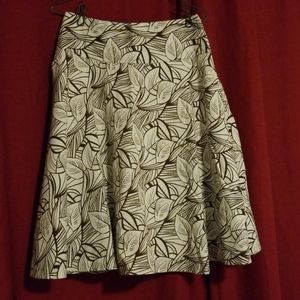 Brown & cream colored flower patterned skirt